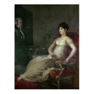 Cartão Postal O Marquesa de Villafranca Pintura seu marido