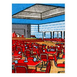 Cartão Postal O Matchbook do vintage combina a sala de zaragata