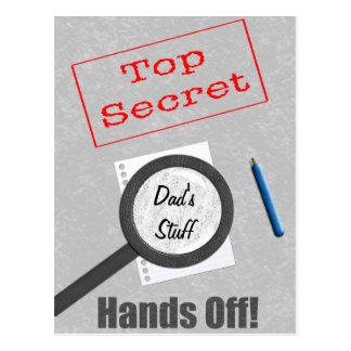 Cartão Postal O material do pai extremamente secreto