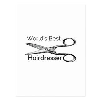 Cartão Postal O melhor cabeleireiro do mundo