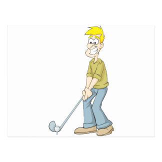 Cartão Postal O melhor pai do jogador de golfe que pôr uns
