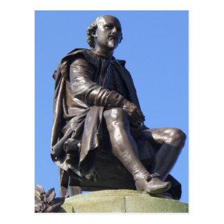 Cartão Postal O memorial de Gower a William Shakespeare