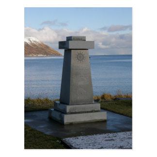 Cartão Postal O memorial do pescador, cidade de Unalaska, Alaska