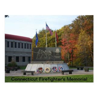 Cartão Postal O memorial do sapador-bombeiro de Connecticut