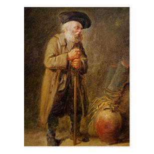 Cartão Postal O mendigo idoso