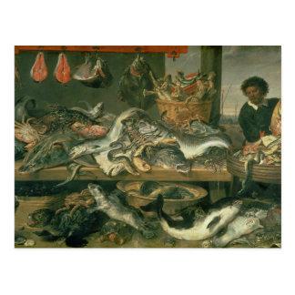 Cartão Postal O mercado de peixes, 1618-21