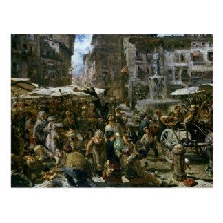 Cartão Postal O mercado de Verona
