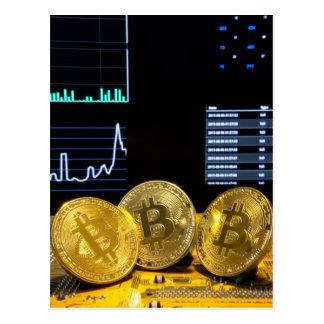 Cartão Postal O mercado do circuito do trio de Bitcoin faz um