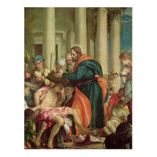 Cartão Postal O milagre de St. Barnabas, c.1566