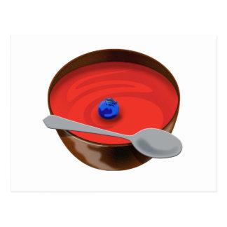Cartão Postal O mirtilo em uma bacia de sopa do tomate - Austin,