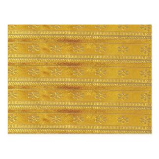 Cartão Postal O modelo dourado do ouro adiciona a palavra da