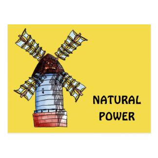 Cartão Postal O moinho de vento