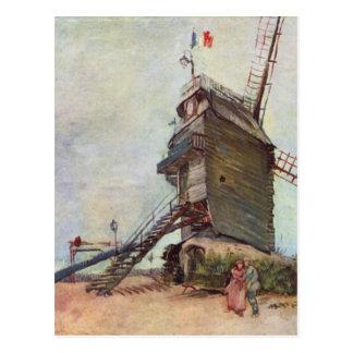 Cartão Postal O moinho de vento - Vincent van Gogh