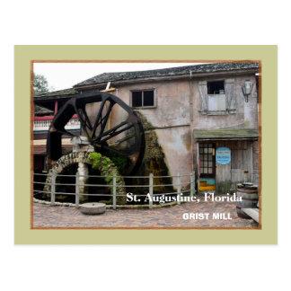 Cartão Postal O moinho velho da munição em St Augustine, Florida