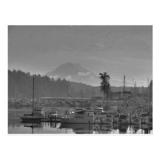 Cartão Postal O Monte Rainier do porto da actuação