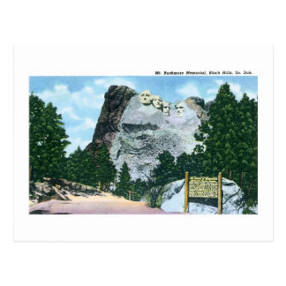 Cartão Postal O Monte Rushmore, Black Hills, South Dakota