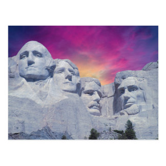Cartão Postal O Monte Rushmore, presidentes de South Dakota, EUA