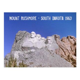 Cartão Postal O Monte Rushmore retro - South Dakota 1963