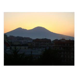 Cartão Postal O Monte Vesúvio no nascer do sol