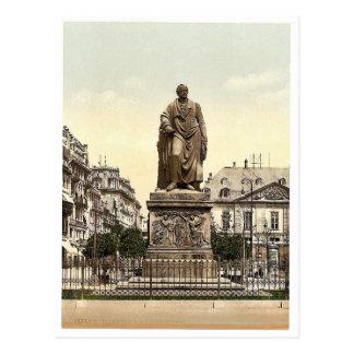 Cartão Postal O monumento de Goethe, Frankfort no cano principal