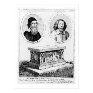 Cartão Postal O monumento do Tradescants na jarda da igreja