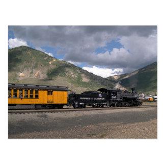 Cartão Postal O motor 480 puxa o trem do turista em Silverton,