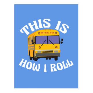 Cartão Postal O motorista de auto escolar engraçado isto é como