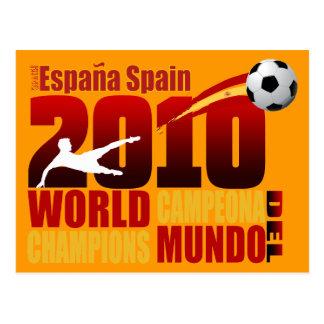 Cartão Postal O mundo da espanha patrocina España 2010 Campeona