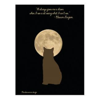 Cartão Postal O mundo surpreendente dos gatos: gato que olha a