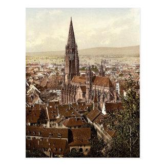Cartão Postal O Munster, Freiburg, Baden, Alemanha magnífica