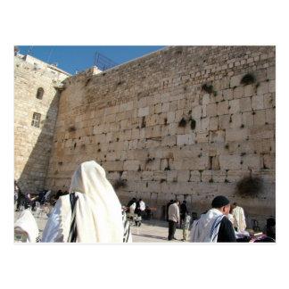 Cartão Postal O Muro das Lamentações em Jerusalém, Cidade Santa