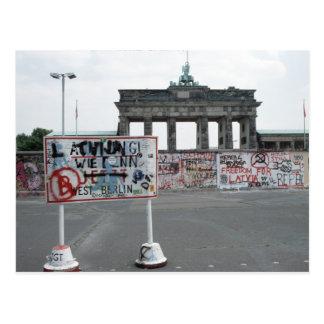 Cartão Postal O muro de Berlim