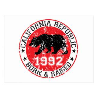 Cartão Postal o nascer da república de Califórnia aumentou 1992