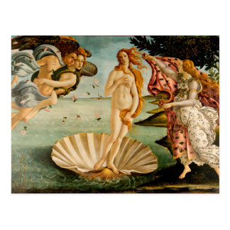 Cartão Postal O nascimento de Venus | Botticelli