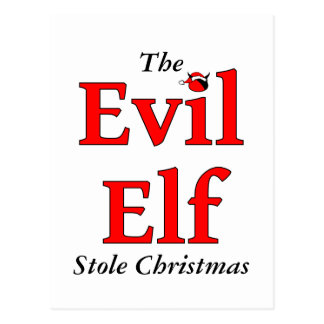 Cartão Postal O Natal mau da estola do duende