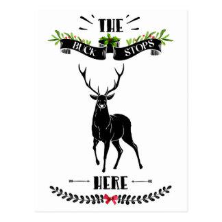 Cartão Postal O Natal o fanfarrão para aqui cervos