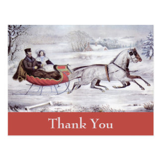 Cartão Postal O natal vintage agradece-lhe