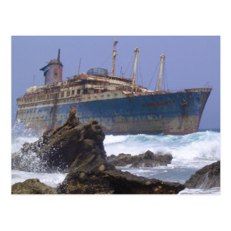 Cartão Postal O naufrágio das Ilhas Canárias americanas da