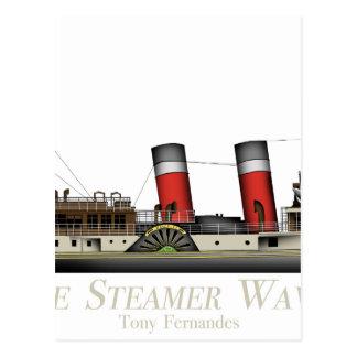Cartão Postal O navio a vapor de pá Waverley por Tony Fernandes