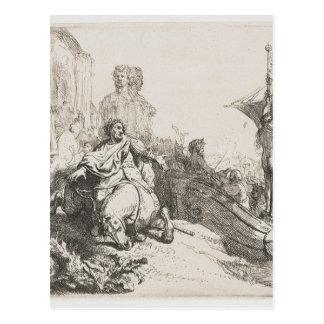 Cartão Postal O navio da fortuna por Rembrandt