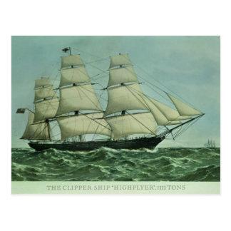 """Cartão Postal O navio de tosquiadeira """"Highflyer"""", 1111"""