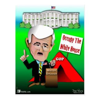 Cartão Postal O Newt ocupa a casa branca