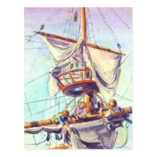 Cartão Postal O NINHO de CORVO por SHARON SHARPE