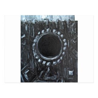 Cartão Postal O ninho preto (natureza abstrata surreal)