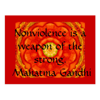 Cartão Postal O Nonviolence é uma arma do forte. - Gandhi