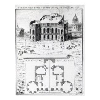 Cartão Postal O obervatório real em Paris, 1741