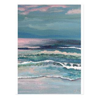 Cartão Postal O oceano do grilo - Seascape da praia