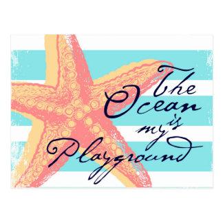 Cartão Postal O oceano é meu campo de jogos