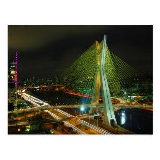 Cartão Postal O Octavio Frias de Oliveira Ponte Sao Paulo