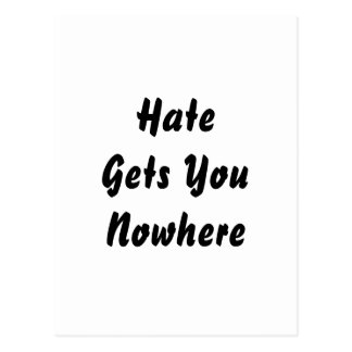 Cartão Postal O ódio obtem-no em nenhuma parte. Projeto preto e